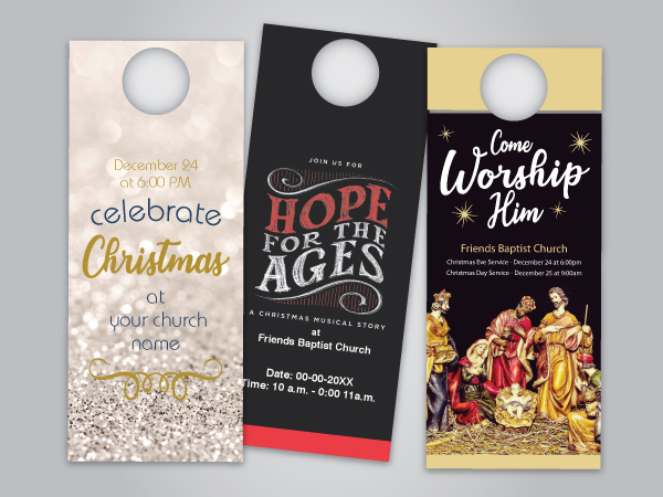 Christmas Outreach Door Hangers